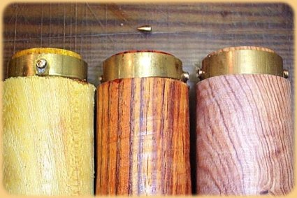 A barrel blank is cut to size and then drilled